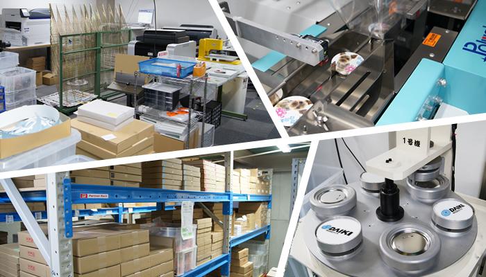 国内自社工場にて印刷から加工まで一貫した生産体制