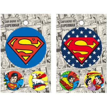 スーパーマン 缶バッジ -1