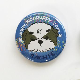 オリジナルの犬キャラクター缶バッジ -1