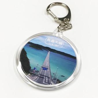 【角島大橋・角島灯台】ハメパチキーホルダー -1